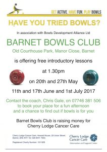 Try Bowls for Fun - free taster lessons @ Barnet Bowls Club | England | United Kingdom