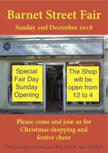CL Shop open for Barnet Street Fair @ Cherry Lodge Shop  | England | United Kingdom