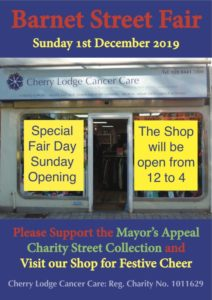 Barnet Street Fair - CL street collection and shop open @ Cherry Lodge Cancer Care Shop | England | United Kingdom