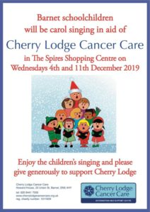 Schoolchildren  Carol Singing for Cherry Lodge