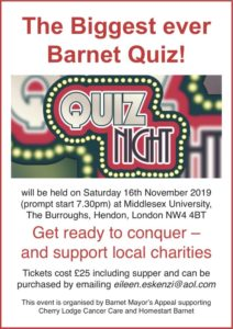 Big Barnet Quiz: a Mayor's Appeal event @ Middlesex University | England | United Kingdom