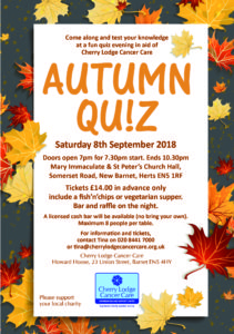 Autumn Quiz 2018 @ Mary Immaculate and St Peter's Church Hall | New Barnet | England | United Kingdom