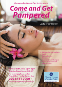 Cherry Lodge Pamper Day (SOLD OUT) @ Cherry Lodge Cancer Care centre | England | United Kingdom