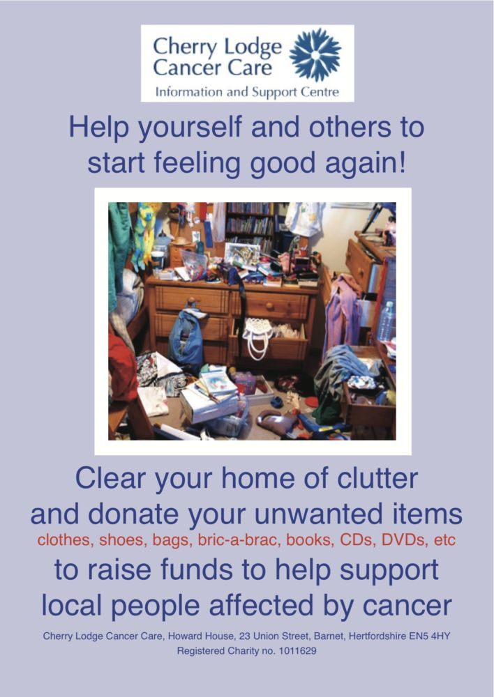 Declutter for CL - our shops need more stock! - Cherry Lodge