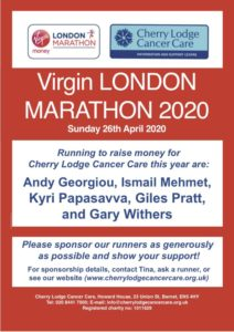 London Marathon 2020 @ Virgin London Marathon route