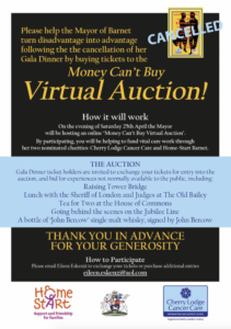 The Mayor's 'Money Can't Buy' Virtual Auction @ online