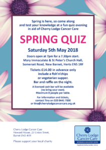Spring Quiz - already sold out! @ Mary Immaculate and St Peter's Church Hall | New Barnet | England | United Kingdom