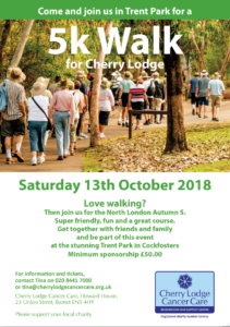Walk 5k for Cherry Lodge @ Trent Park  | United Kingdom
