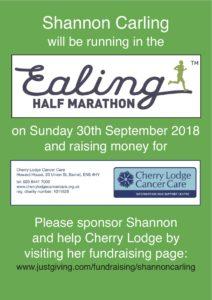 Shannon's Ealing Half Marathon - please sponsor @ Ealing Half Marathon start | England | United Kingdom